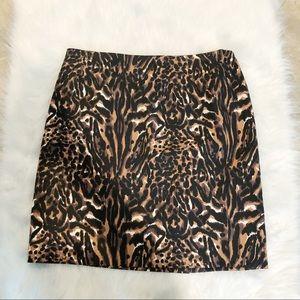 Talbots Animal Print Pencil Career Style Skirt